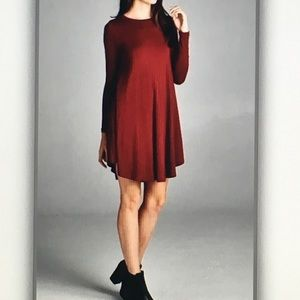 Tops - 🎯Red burgundy🎯long sleeve tunic
