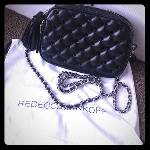 Rebecca Minkoff Black Studded Flirty Crossbody