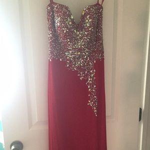 Dresses & Skirts - Long Red strapless dress