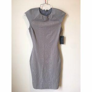 • Lapina by David Helwani gray cutout dress size S