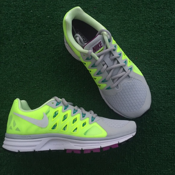Nike zoom vomero women s gray yellow green sneaker aaec685adc