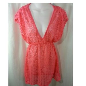 Miken Other - Miken Swim Bikini Coverup Tunic Dress Crochet S