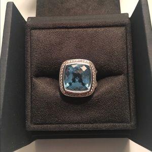 David Yurman Albion Ring Blue Topaz