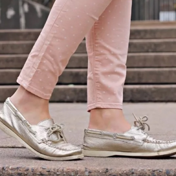 Sperry Metallic Gold Boat Shoes