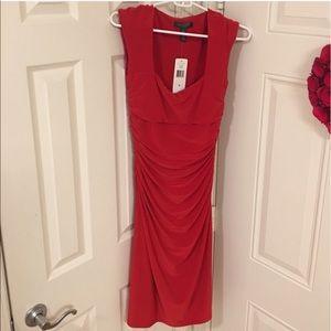NWT Ralph Lauren Captetown Red Sleeveless Dress