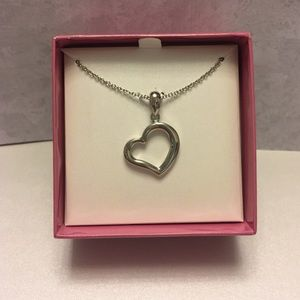 Heart Pendant & Necklace NIB