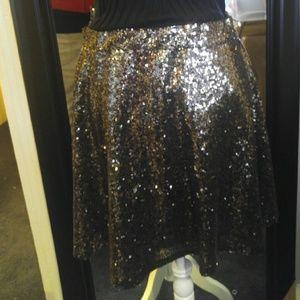 Gold sparkle skirt