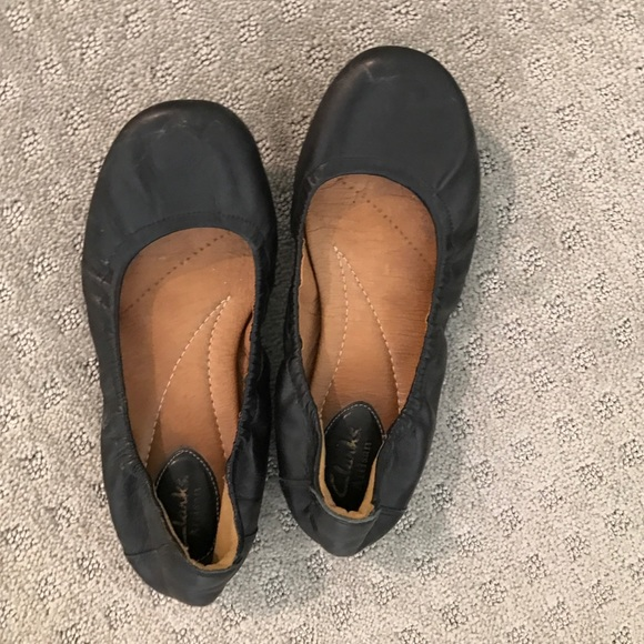 Clarks brown 8.5 leather ballerina flats shoes NWT