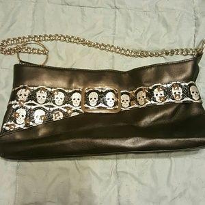 Bioworld Handbags - Black skull small hand bag.