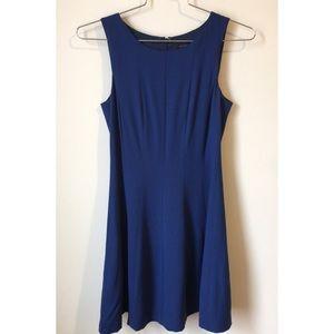• Theory flared blue dress size 4 •
