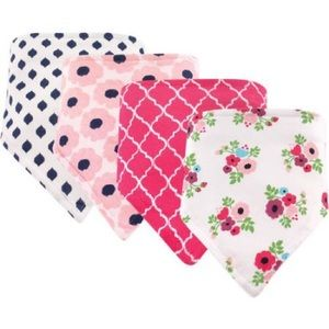 Other - Baby Girl's Bandana Bibs 4 Pack Floral