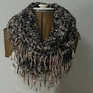 Beautiful hand knitted fringe Infiniti Scarf!