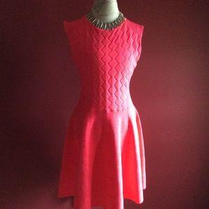 Ted Baker Orange Flippy Hem Detailed Dress.