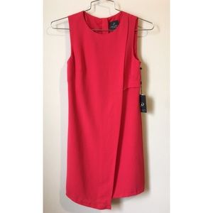 •Adrianna Papell draped red dress size 2•