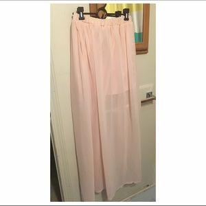 LOOKBOOK STORE - Nude pink Maxi Skirt