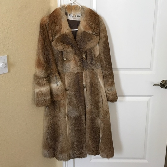 Vintage Real Fur Coat Rabbit S/M Margo's La Mode by Margo's La Mode