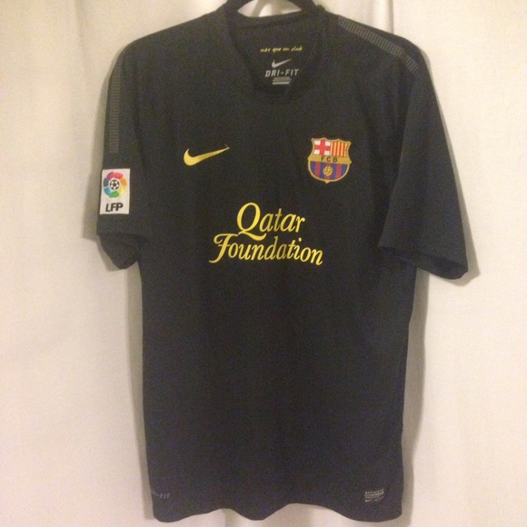 save off 7ef72 ef176 Nike FC Barcelona Large jersey black no name EUC