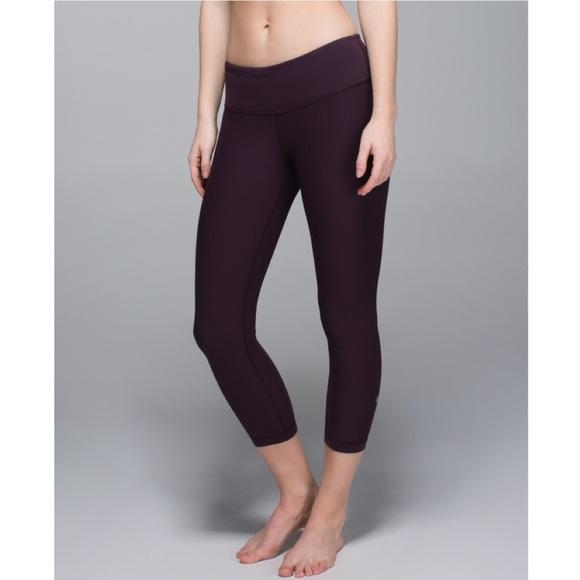 066ff40752 lululemon athletica Pants | Lululemon Wunder Under Crops Black ...