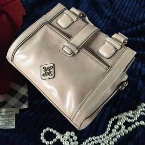 Vera Wang Handbags - VERA WANG Logo-Embellished Blush Purse