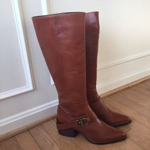 Design Lab Adelienne Cognac Leather Boots!