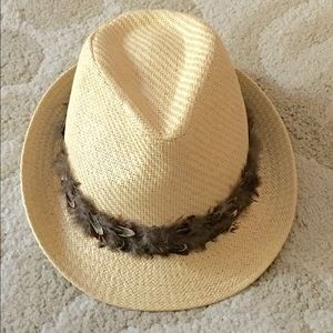 Accessory Collective Accessories - Accessory Collective Fedora Feather Trim Hat