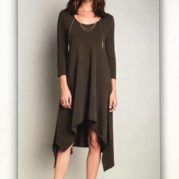 Dresses & Skirts - 🎨Olive green🎨3/4 sleeve midi dress