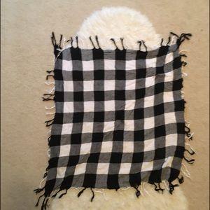 Buffalo plaid check blanket scarf