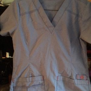 Other - Wonder wink ceil blue scrub top XS