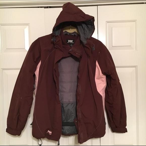 3b9c8043b73 Helly Hansen Jackets   Blazers - Helly Hansen burgundy snowboard ski jacket