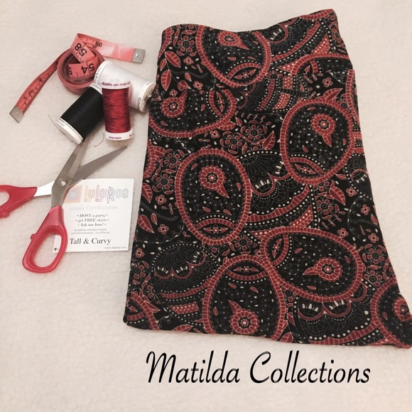 daa760c6f4e2b4 LuLaRoe Pants | Black And Red Mosaic Tc Leggings | Poshmark