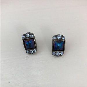 Jewelry - Blue gem earrings