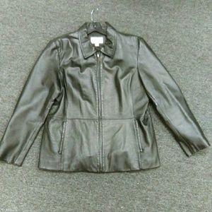 Worthington Black 100% Leather Jacket Sz. XL