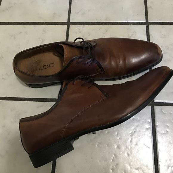 Aldo Shoes Brown Leather Mens Dress Size 14 Poshmark