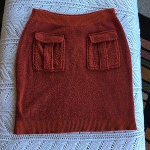 Anthropologie Moth Rust Sweater Skirt