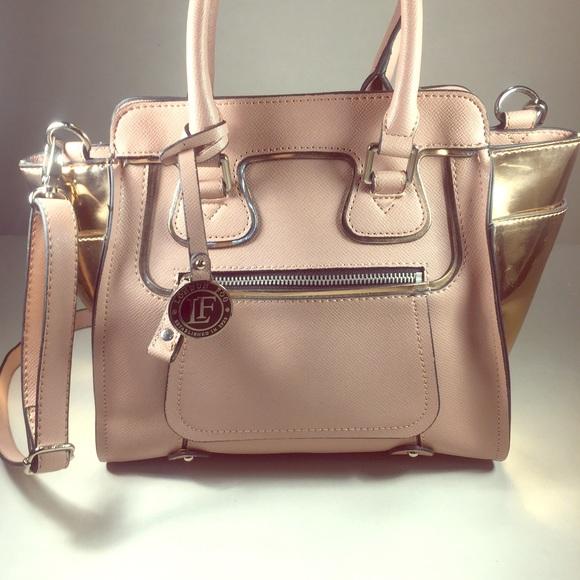 81% off London Fog Handbags - LONDON FOG Rose Pink and Metallic ...