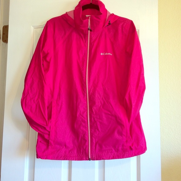 73% off Columbia Jackets & Blazers - Columbia Hot Pink Rain Jacket ...