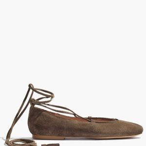 sale | madewell • lace-up flats in suede
