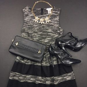 Bar III Dresses & Skirts - Bar III Grey and Black Color Block Dress