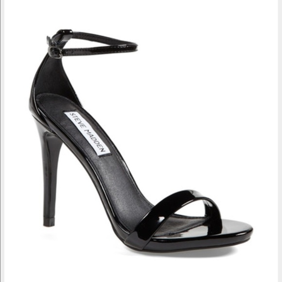 5c7b7d41b2a Steve Madden Stecy Black Patent Strappy Heel
