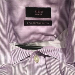 Alara Shirts - Alara purple pencil stripe