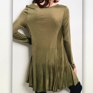 Tops - 👒Olive green👒long sleeve blouse