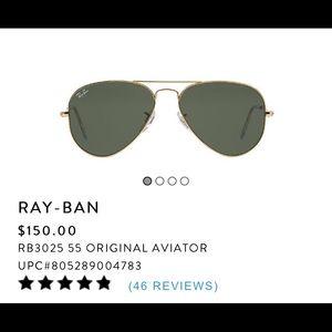 Classic Rayban Aviators