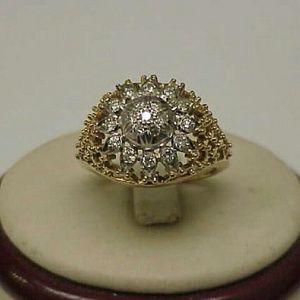 Jewelry - 18k  gold platinum  .75ct diamonds filigree ring
