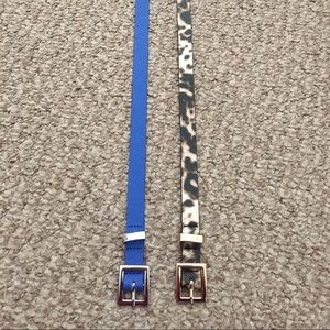 HM Leathercraft Accessories - Blue and leopard print belts!