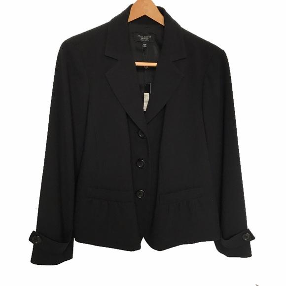 2a5cf313fc94b NWT Women s Talbots black blazer jacket