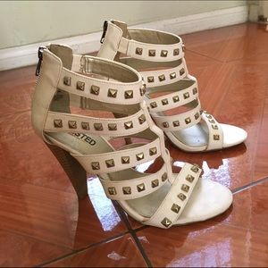 Unlisted Shoes - 👠Unlisted White 👠Studded High Heels