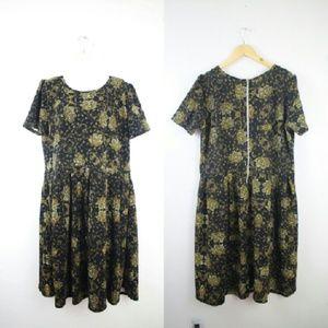 LuLaRoe Dresses & Skirts - Lularoe Amelia Floral Textured Dress