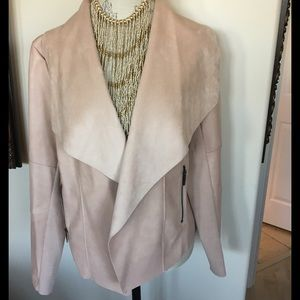 Bar III Jackets & Blazers - Bar lll  Blush Vegan Jacket