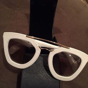 Prada Embossed cat eye sunglasses