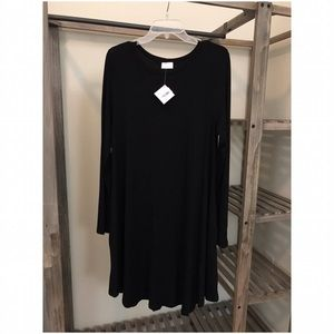 Dresses & Skirts - Long Sleeve Dress With Pockets :: Black